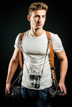 Handmade camera leather harness camera strap by LeatherMaple