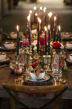 A single feather and a plaid napkin for each place setting, paired with moody black candles, makes this wedding tablescape indisputably autumnal. Via Wedding Chicks wedding tables red 50 Gorgeous Wedding Tablescapes To Inspire That Special Day Beautiful Table Settings, Wedding Table Settings, Wedding Tables, Wedding Ideas, Trendy Wedding, Elegant Wedding, Wedding Blue, Wedding Inspiration, Wedding Reception