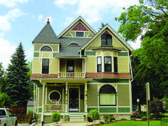 Exterior Paint Color Schemes - Old House Restoration, Products & Decorating Exterior House Colors Combinations, Exterior Color Schemes, House Color Schemes, Colour Combinations, Green Exterior Paints, Best Exterior Paint, Exterior Paint Colors, Exterior Shades, Different House Styles
