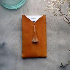 Tan Tassel iPhone case leather phone case iPhone 5/5s/6/6