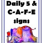 FREEBIE!!  $0 - Daily 5 and Cafe posters...