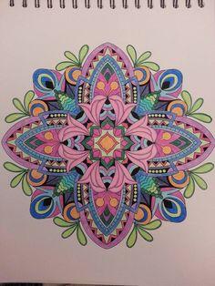 ColorIt Mandalas to Color Volume 1 Colorist: Barbara Berlyn Pacheco #adultcoloring #coloringforadults #mandalas #mandala #coloringpages