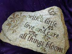 Engraved Garden Stones, stepping stones, Flower stones, Garden gifts, Mom Gifts, engraved stones