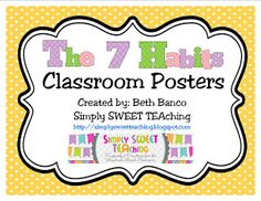 The 7 Habits of Happy Kids: Classroom Posters