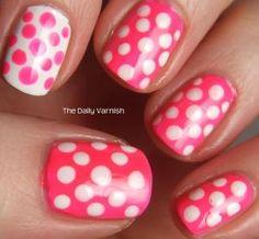 Cómo dibujar lunares en tus uñas