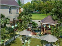 Mẫu biệt thự đẹp phong cách nhà vườn nhà cô Hoa (Bình Chánh)