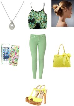"""Floral"" by calabazita1 ❤ liked on Polyvore"