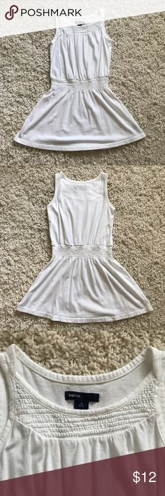Gap Kids white sleeveless Dress Perfect condition! No holes or stains  Antique white sleeveless smocked dress with elastic drop waist  60% cotton 40% modal Machine wash S 6/7 GAP Dresses