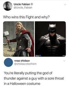Its Marvel vs DC . who'd'ya think would win bozo Marvel Jokes, Marvel Vs, Funny Marvel Memes, Dc Memes, Avengers Memes, Disney Marvel, Memes Humor, Meme Comics, Funny Cartoons