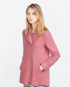 Image 5 of LAPEL COLLAR COAT from Zara