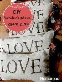Valentine's LOVE Pillows