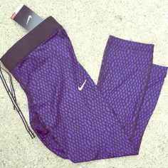 Nike dri-fit purple polka dot workout tights Brand new with tags Nike dri-fit purple polka dot workout tights size medium. Be sure to check out my other listings! Bundle to save more:)! Nike Pants Capris