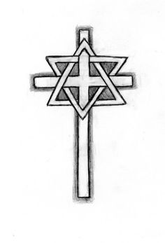 star of david tattoo designs | Design sketch for Tattoo photo starcross.jpg