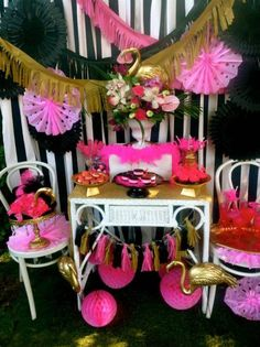 Chic Flamingo bridal shower party ideas