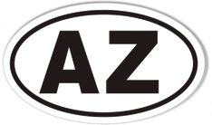 AZ Arizona Euro Oval Sticker