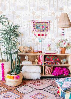 wohnzimmer einrichtiungsideen bunte farben dekoideen