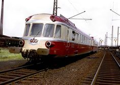 This is the sweet spot, a first generation TEE from the French railways system.  A diesel two to three set train that could be coupled to another train and run non-stop from Paris to Brussels, etc.  Luxury, speed, classiness oozed from the service and their equally beautiful stewardesses.