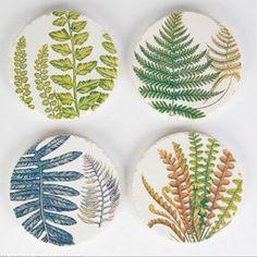 Ver detalles de Posavasos cerámica floral (4)