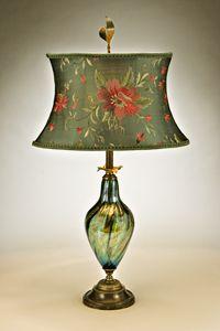 Gladys Table Lamp: Caryn Kinzig, Susan Kinzig: Mixed-Media Table Lamp | Artful Home