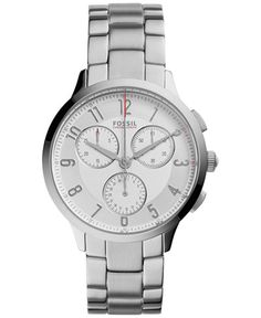 Fossil Women's Chronograph Abilene Stainless Steel Bracelet Watch 34mm CH3017