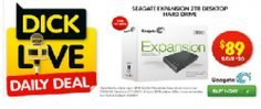 Dick Smith's Daily Live Deal - Seagate Expansion 2TB Desktop Hard Drive USB 3.0, only $89 save $20! Will Smith, The Expanse, Desktop, October, Usb, Live