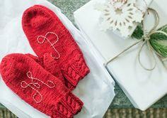 encore une superbe idée de gants rouges monogrammés, un super cadeau de noel facile à fabriquer et personnalisé
