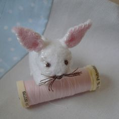 Little white rabbit  Flossie by BlossomHill on Etsy, $8.00