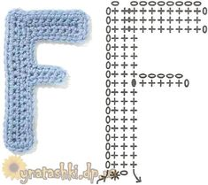 Crochet Letters Pattern, Crochet Alphabet, Crochet Square Patterns, Letter Patterns, Cute Crafts, Diy And Crafts, Symbols, Ladies Tops, Bedroom Wall