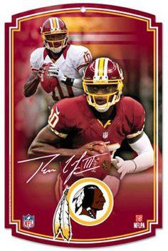 Washington Redskins NFL Football Robert Griffin III RG3 Hardboard Wood Sign