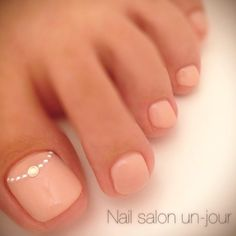 Adorable Toe Nail Designs for Women - Toenail Art Designs Simple Toe Nails, Pink Toe Nails, Feet Nails, Fancy Nails, Pretty Nails, My Nails, Pretty Toes, Nail Pink, Pink Toes