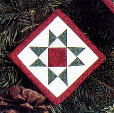 Quilt block ornament from Folded Fabric Fun