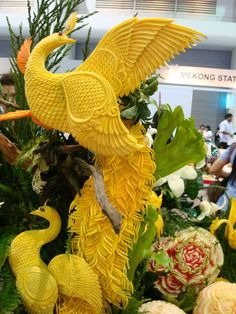 Chinese Wedding Banquet, Wedding Reception Display, Carved Food Art, Culinary Sculpture, wedding, Sculpture culinaire ! Scultura culinaria ! 料理の彫刻
