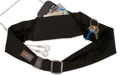 This solid color sleek belt features a pocket to hold your essentials while running, playing sports, dog walking or travelling. An extra side pocket is a perfect fit for keys, coins or inhaler. The belt pack is available in several colors.