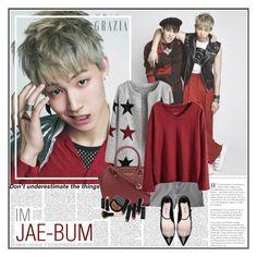 """Clara's #364 - Im Jaebum"" by claraclo19 ❤ liked on Polyvore featuring moda, MICHAEL Michael Kors, J.Crew, Miu Miu e Bobbi Brown Cosmetics"