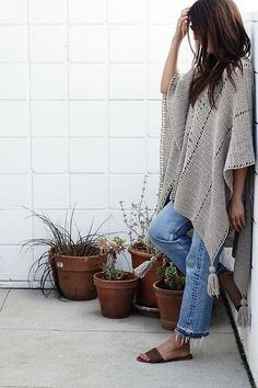 4 Cross Country Poncho by Alexandra Tavel -Featured on Free Pattern Friday at ODC