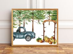 Vintage Truck Pumpkin Patch Fall Printable