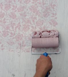 Patterned Paint Roller in Sweet Sea Roses design wall stencil decor. $22,50, via Etsy.