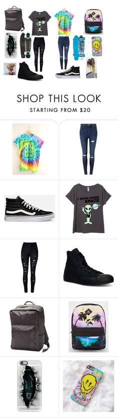 """""""Out Nd Abou w/ JC Caylen"""" by kennajayce on Polyvore featuring Miss Selfridge, Vans, WithChic, Converse and Casetify"""
