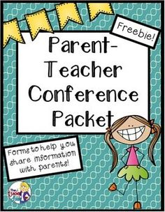 Free Parent-Teacher Conferences Packet for - Grade Freebie! Comes with editable forms, so you can customize it to your own needs. Great student reflection handout included too! Future Classroom, School Classroom, School Teacher, Classroom Ideas, Teacher Organization, Teacher Tools, Teacher Resources, Teaching Ideas, Parent Teacher Communication