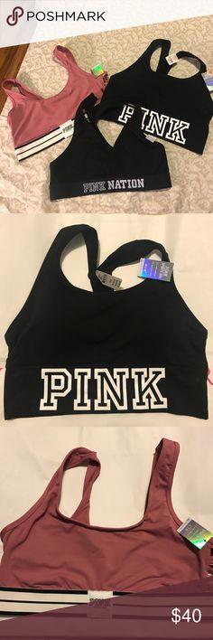 3 NEW VS PINK sport bras 3 NEW VS PINK sport bras Vs PINK Victoria's Secret PINK Victoria's Secret Intimates & Sleepwear Bras
