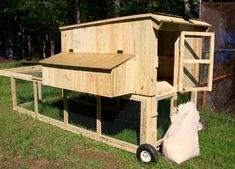 Chicken Coop Tractor and Garden Beds - I like the idea of having it on wheels so you can move it around