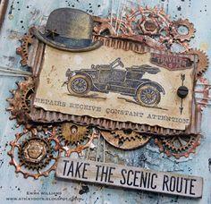 That's Life: Tim Holtz Vintage Auto stamp set