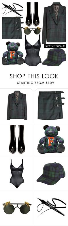 """""""OOTD"""" by gigi-lucid ❤ liked on Polyvore featuring Alyx, Vetements, Puma, Wolford, outfit, plaid and polyvoreeditorial"""