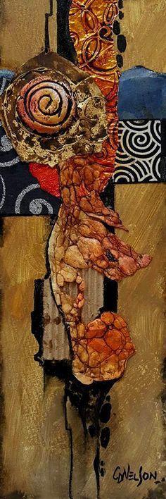 CAROL NELSON FINE ART BLOG: Abstract mixed media demonstration piece © Carol Nelson Fine Art