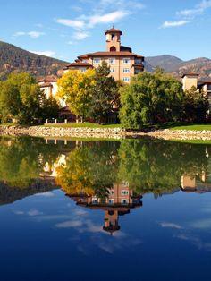 The beautiful Broadmoor Hotel located in Colorado Springs, Colorado - my favorite resort!
