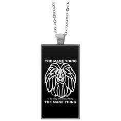 Just added this new The Mane Thing Re... Check it out! http://catrescue.myshopify.com/products/the-mane-thing-rectangle-necklace?utm_campaign=social_autopilot&utm_source=pin&utm_medium=pin