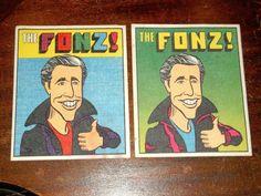 Vintage The Fonz! Iron On Patch Lot of 2 henry winkler