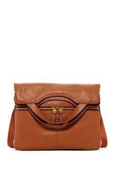 Elise Foldover Double Zip Leather Tote by Fossil on @nordstrom_rack