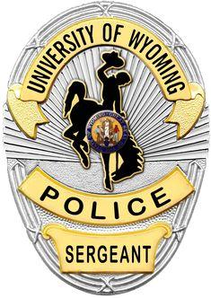 University of Wyoming Police Sergeant badge