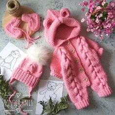 Crochet Baby Cocoon, Newborn Crochet, Love Crochet, Beautiful Crochet, Crochet Yarn, Winter Baby Clothes, Knitted Baby Clothes, Crochet Doll Clothes, Baby Bunny Costume